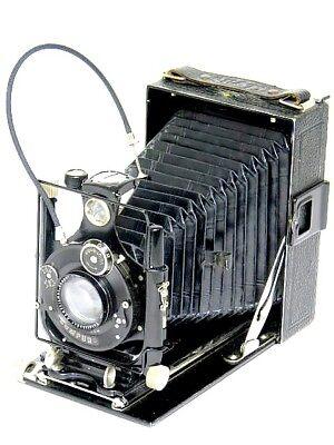 Voigtländer Compur 1:4,5 F=13,5cm Klapp Platten Balgen Kamera
