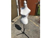 Lovely mannequin with adjustable stand