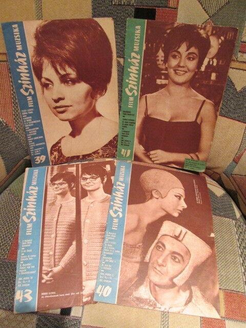 Lot of 4  Film Szinhaz Muzsika - (1963-64) - HUNGARIAN Communist film magazines