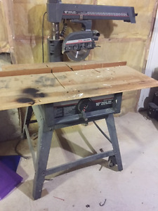 """Radial Arm Saw 10"""" with stand Craftsman"""