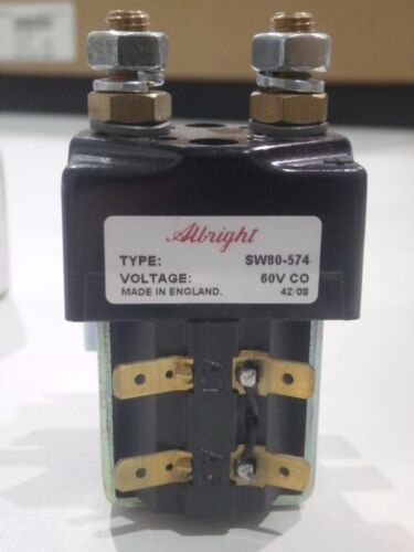SW80-574 CURTIS/ALBRIGHT NEW/UNUSED/MFG PACKAGING Heavy duty 60V D.C. Contactors