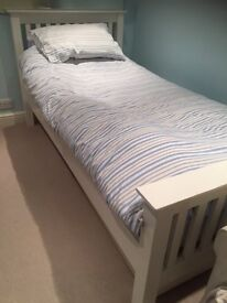 White Company 3ft Single bed with truckle
