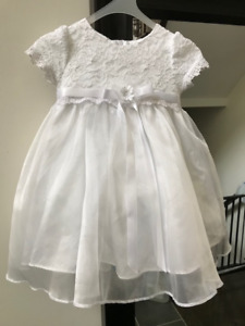 Baptism, flower girl, party dress - Size M (fits 18-24 Months)