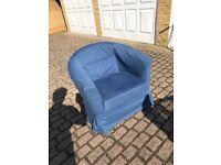 IKEA TULLSTA armchair blue in good condition