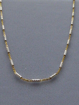 ITALIAN 925 STERLING SILVER TWO TONE CHAIN/NECKLACE- 16