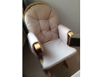 Recline Glider Nursing Chair and Footstool, in perfect condition
