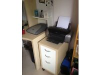 Home office desk and draw unit