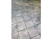 Concrete Paving Stones and Border (Approx 17m2)