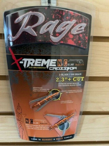 "New Rage X-treme NC Crossbow 100 Gr 2.3"" + Cut Broadheads Dealer 2-Pack R38800"