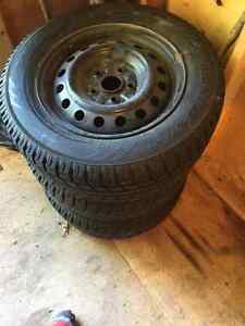Set of 4, 215/60/R15   Winter Toyo Observe Tires,and Rims