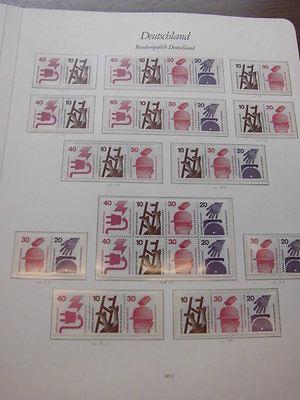 Sammlung, Bund Zusammendrucke, Unfallverhütung, B+S postfrisch H-Blatt (1021)
