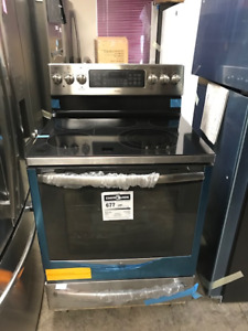 GE Stainless Steel Glass-Top Stove