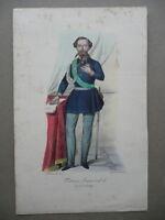 Vittorio Emanuele Ii Re Sardegna Litografia A Colori 1850 Barabino Armanino - armani - ebay.it