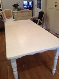 painted dining table top