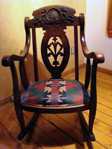 Antique Wooden Rocking Chair London Ontario image 2