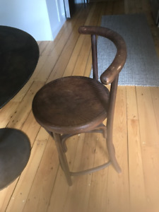 Antique bent wood kitchen chair - $45 obo