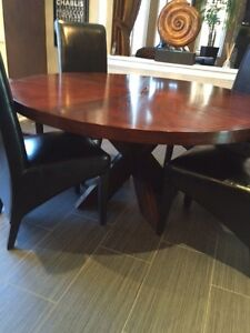 """Wooden 60"""" Round Dining Table Set"""