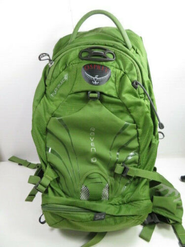 Osprey Raven 10 Hydration Hydraulics Back Pack Green with 2 extra valves