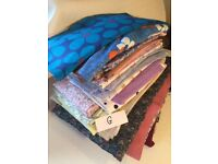 Batch G retro vintage fabric material includes cotton, viscose & polyester
