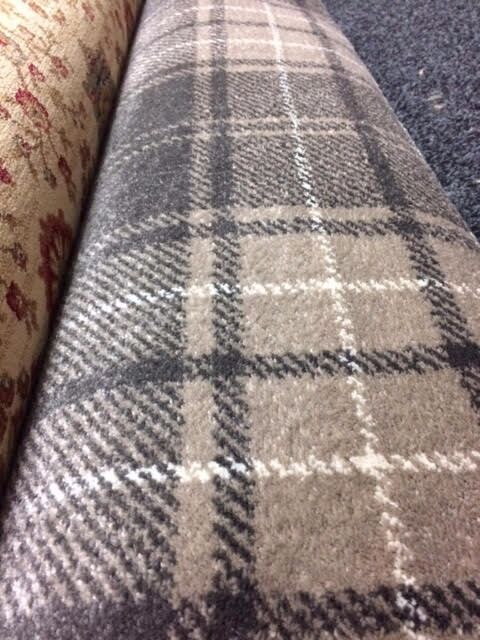 Mink Grey Tartan Carpet Remnant 3 50 X 5 00m 163 180 Ref