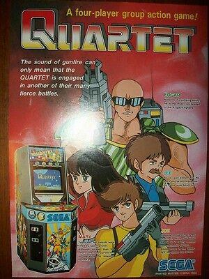 1986 Sega QUARTET Arcade Video Game Flyer!