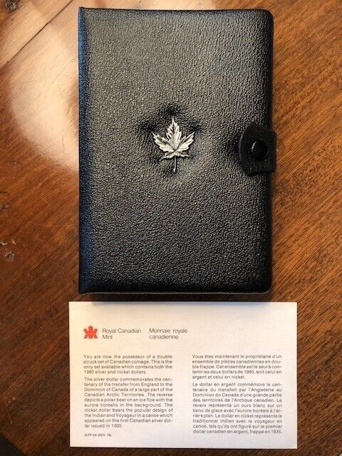 1980 Royal Canadian Mint Commemorative Set with COA - Silver Dollar