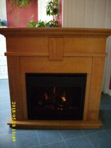 fireplace with heater