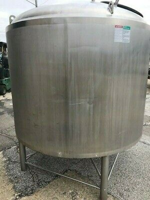 500 Gallon Crepaco Stainless Steel Jacketed Domed Top Coned Bottom Tank