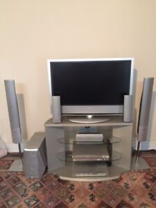42 inch LCD SONY TV, Sound System (Panasonic), DVD and TV Stand.