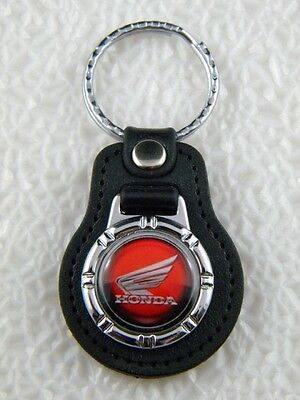 HONDA WING KEY FOB RED KEY CHAIN RING MOTORCYCLE BIKE SHADOW PATCH VFR PIN GOLD