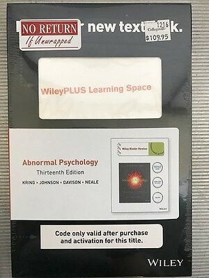 Abnormal Psychology Wileyplus Access Code