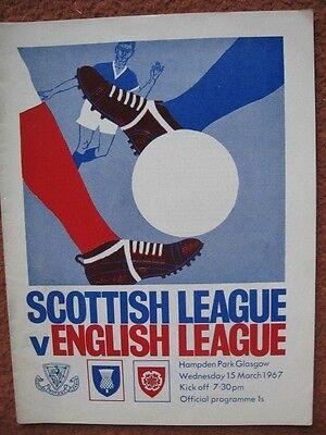 SCOTLAND v ENGLAND (INTER LEAGUE INTERNATIONAL) 15th March 1967 @Hampden