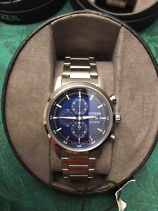 New in case men's Citizen Eco Drive chronograph watch