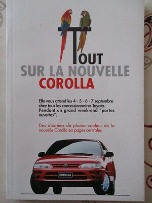 CATALOGUE AUTO : TOYOTA : TOUT SUR LA NOUVELLE COROLLA 1992 ?.