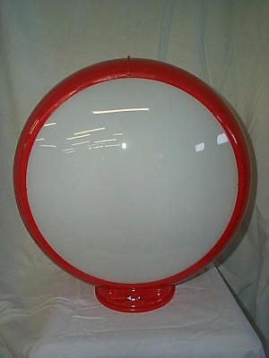 gas pump globe reproduction 2 PLAIN FROSTED glass lenses in a plastic body NEW