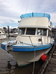 28' Glasply cruising/fishing powerboat for sale or trade.