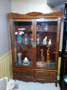 2 Glass Antique  Display Cases