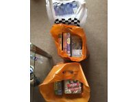 Three bags of old but excellent condition VHS tapes.