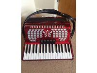 Scarlatti Bass Accordion Scarlatti 72 Key Red *New Condition* Original Box