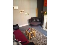Large 2 double bedroom UNFURNISHED mid terraced property in Marley Street, Leeds LS11. £500pcm