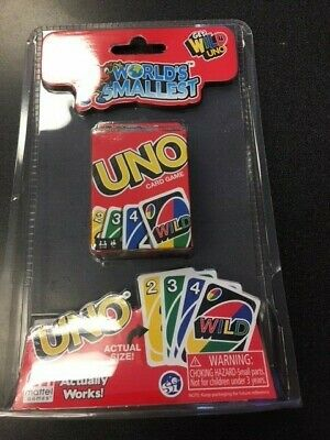 World's Smallest - Uno Card Set  Miniature Game RETRO Toy NEW