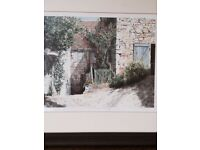 Framed Picture from John Lewis excellent Christmas present Limited edition . Claudias Cottage