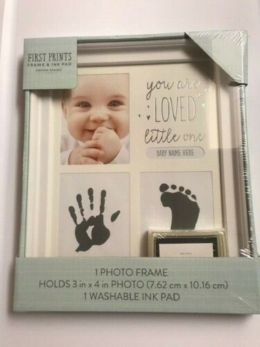 NEW First Prints Baby Hand Print & Photo Frame Gift Box Includes Ink pad