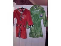 Immaculate, 2x 3-4 years dressing gowns. George pig with hood & Lightning Mcqueen,£3 each both £5