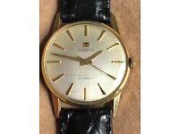Tissot 14ct Gold Automatic Gents Vintage Watch