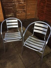 Pair of bistro garden chairs