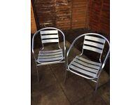 Pair of bistro garden chairs