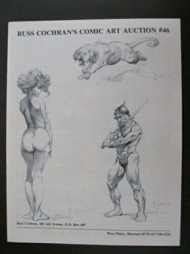 1991 Russ Cochran Comic Art Auction Catalog # 46 ~ Frank Frazetta ~ 20pages ~