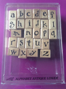 Stampin Up Antique Alphabet set
