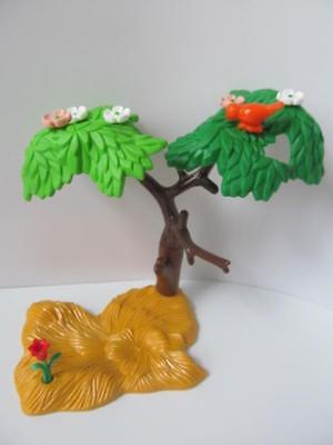 Playmobil Tree & flower on yellow base NEW scenery for Zoo/safari/western sets